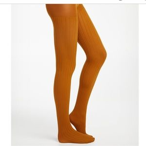 *3for$30* Yellow  twisted cable knit tights NWT